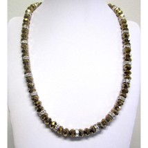 Brown necklace with crystals - $24.99