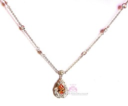 Love Beauty for Ashes® Topaz Glam Prom Pear CZ Evening Cocktail Gala Necklace - $7.77