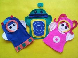 Team Umizoomi- felt hand Puppets - $14.99