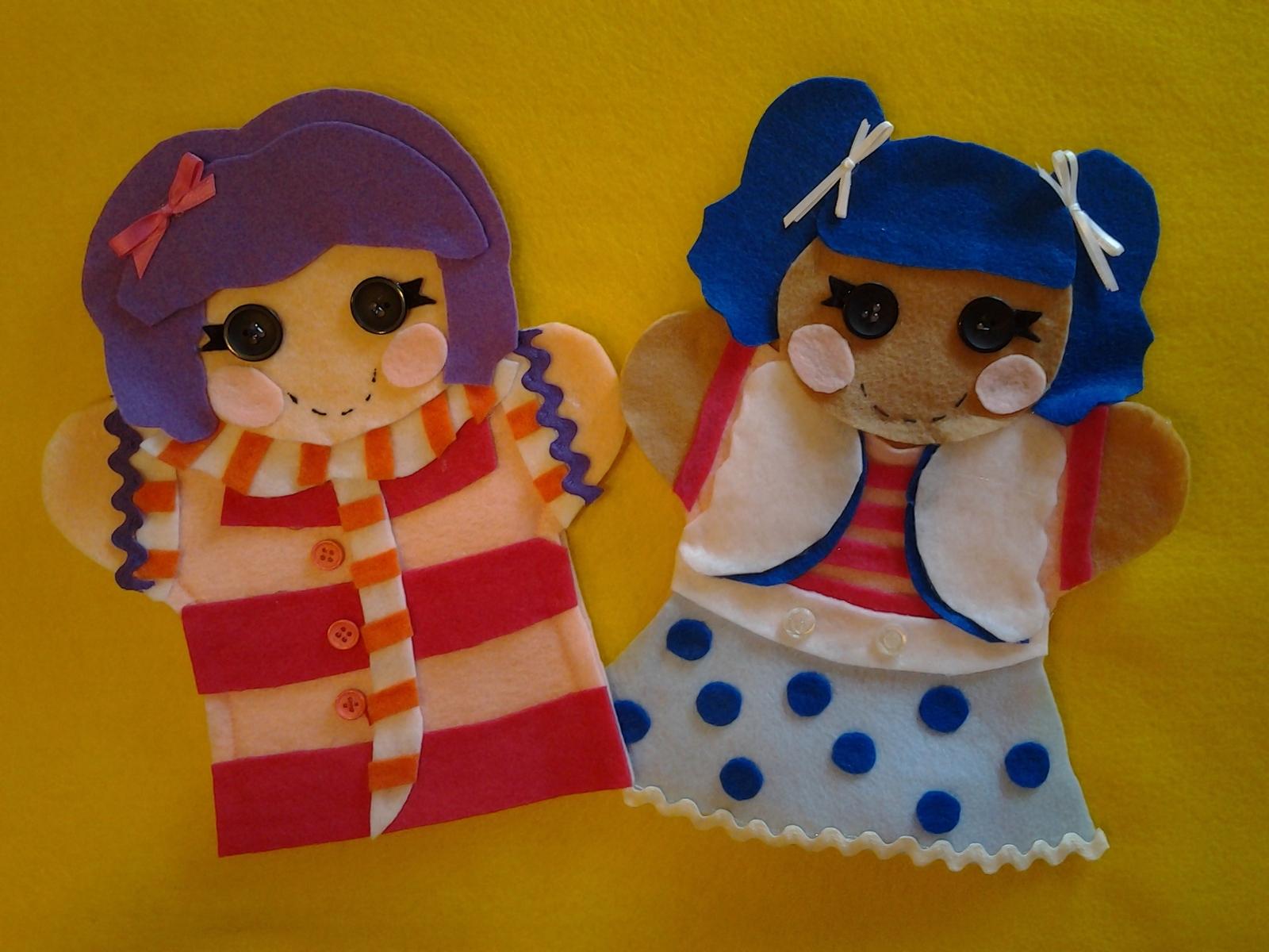 Lalaloopsy felt puppets