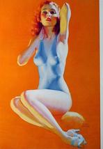 "2-Sided  8-1/2 X 11"" Sexy Pin-up Girl Poster -Exercising Artwork by Earl Moran  - $8.70"
