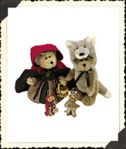 "Boyds Bears ""Bailey & Matthew"" Red Riding Hood Plush & Orn Set-#9229-LE-NWT-2000 - $59.99"