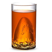 New Creative Shark Glass Cup Beer Mug Champagne Red Wine Cup - $11.86