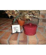 Longaberger Casserole Dish Drum Crock Paprika Pottery Vitrified USA New - $24.70