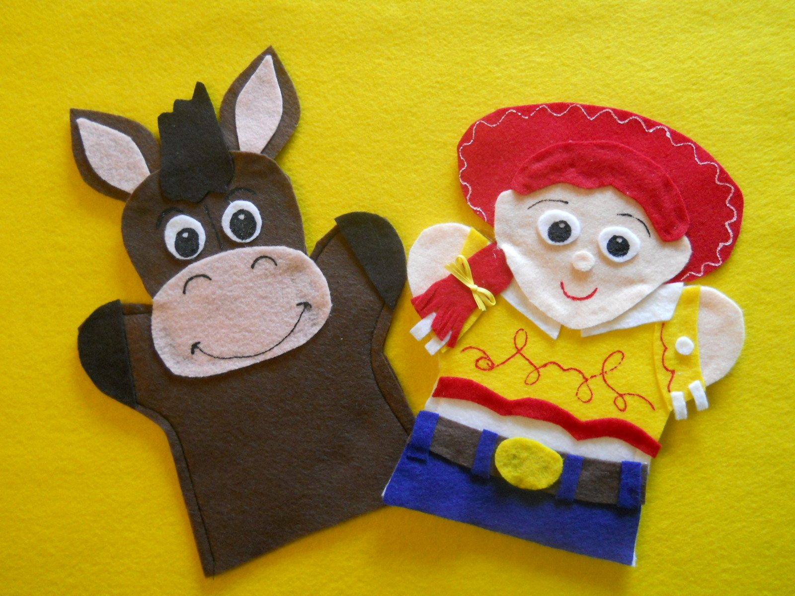 Toy Story- felt hand puppets
