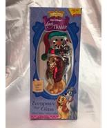 Walt Disney's Lady and the Tramp 1999 Santa's Best European Blown Glass ... - $98.99