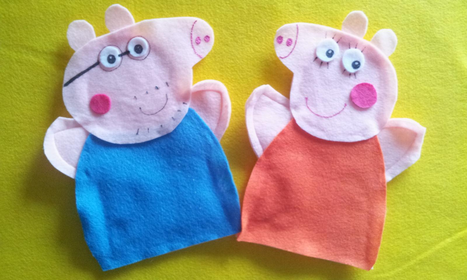 Peppa Pig Felt Hand Puppets