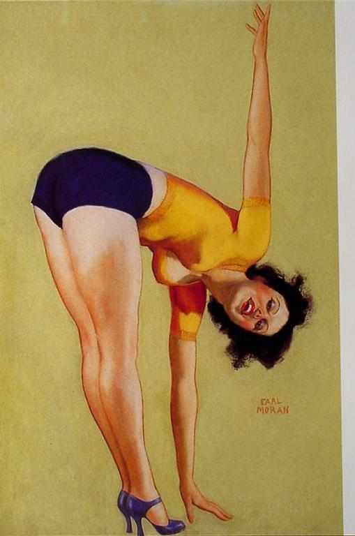 2-Sided Sexy Pin-up Girl Poster Artwork by Earl Moran