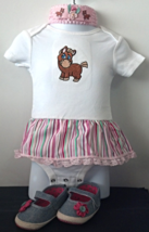 Infant Embroidered Western Bodysuit Skirt Pony 6-9 months + Headband & S... - $26.95