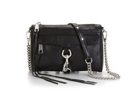 Rebecca Minkoff Mini Mac Clutch in Black with Silver Hardware NWT - £130.62 GBP
