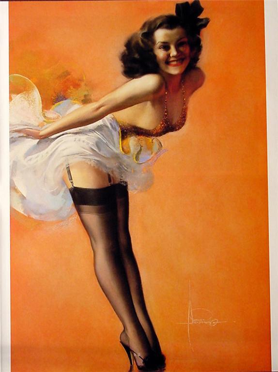 8-1/2 X 11 Pin-up Girl Poster Rolf Armstrong Beautiful Latino Lady