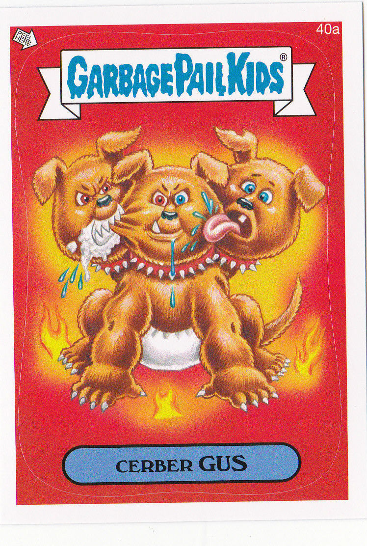 """2014 GARBAGE PAIL KIDS 1ST SERIES """"CERBER GUS"""" CARD #40a ONLY 99 CENTS!"""