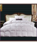 Queen White Jacquard Weave Silk Quilted White Duck Down Duvet Comforter  - $259.95