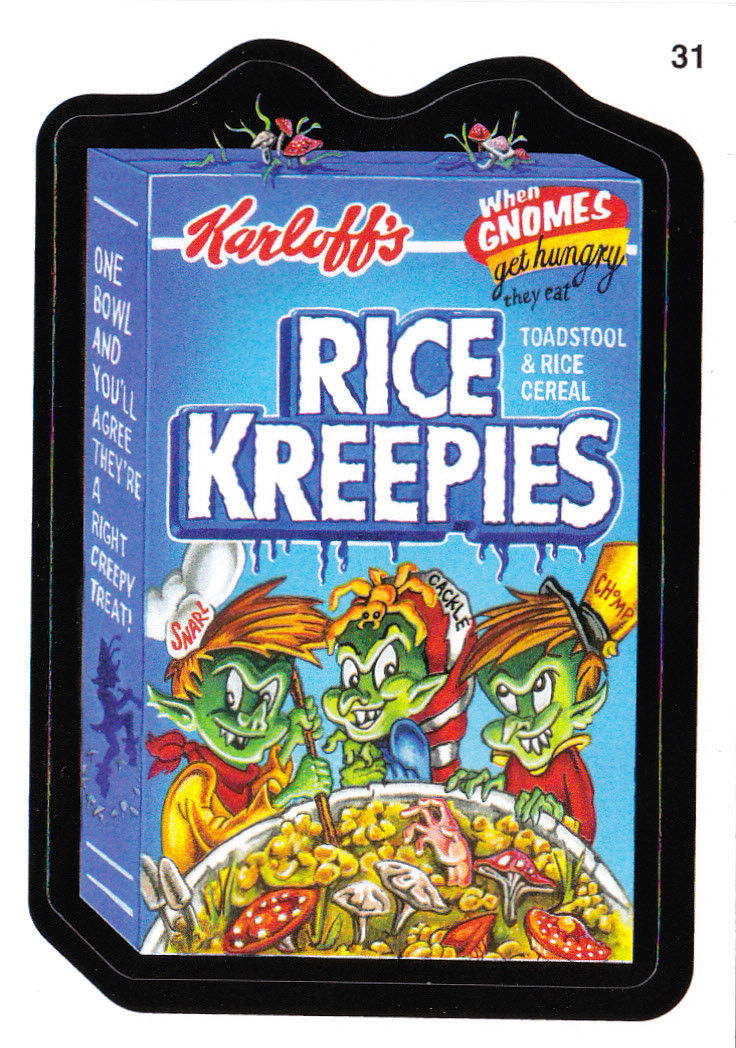 2011 WACKY PACKAGES ANS8 CARD **RICE KREEPIES** #31 ONLY 99 CENTS!!  WOW!!