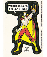 1976 MARVEL COMIC BOOK SUPER HEROES STICKER CARD **SON OF SATAN** NM-  GPK - $3.99