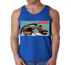 Black Dynamite Shark Adult Swim Cartoon Comic Vintage 1970 Men's Tank Top - $12.00