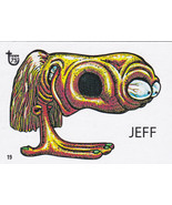 "2013 Topps 75th Anniversary Pop Culture 46 UGLY STICKERS""JEFF"" RARE CARD!! - $1.00"