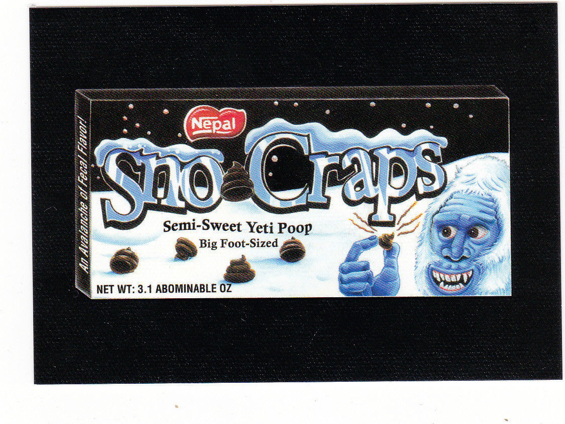 2013 WACKY PACKAGES ANS11 CANVAS CARD **SNO-CRAPS** #26 ONLY 99 CENTS!