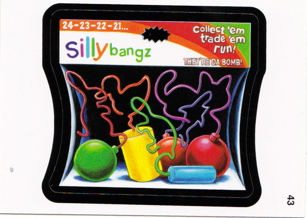 2011 WACKY PACKAGES ANS8 CARD **SILLY BANGZ** #43 ONLY 99 CENTS!!  WOW!!