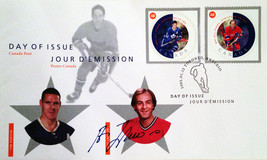 Day of Issue Stamps Horton & Lafleur - Signed By Guy Lafleur - $39.00