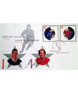 Day of Issue Stamps Horton & Lafleur - Autographed By Guy Lafleur - £29.32 GBP