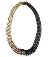 1980s Givenchy Multi-Chain Two-Tone Runway Couture Necklace - $250.00