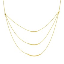 Three Layer Chain Necklace in 14k Yellow Gold - $827.34