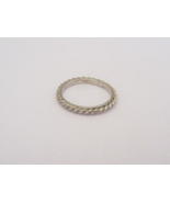Vintage Sterling Silver Twisted Band Ring Size 5.75 - $14.00