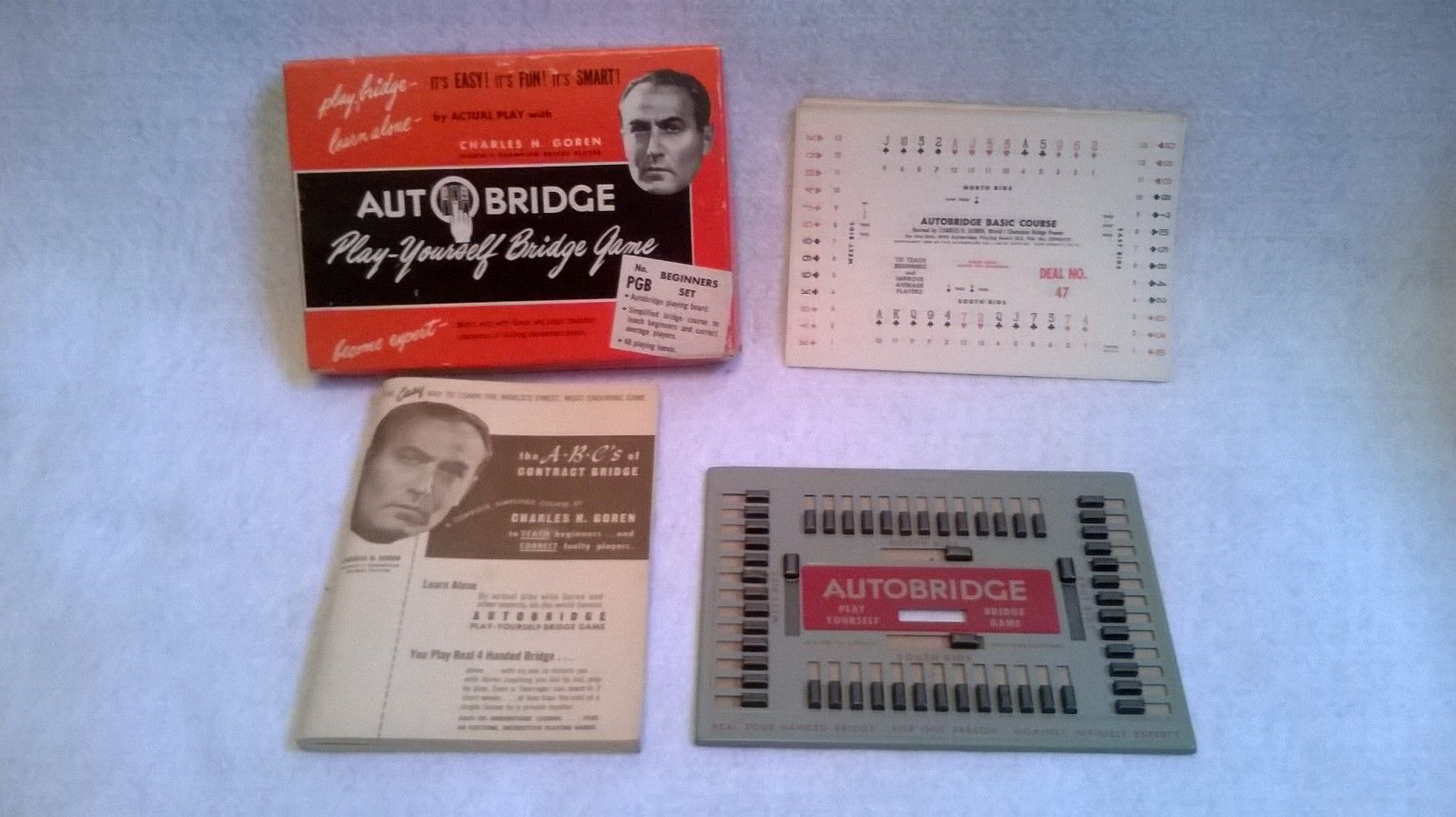 Vintage charles goren auto bridge beginners set 1950 for Charity motors bridge card