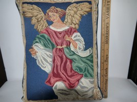 "Vintage Beautiful Decorative Tapestry Angel 15""... - $18.90"
