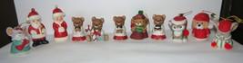 Vintage Porcelain Ornaments by Homco/Jasco GREAT set of 11 Asst. Santa &... - $8.99
