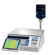30 x 0.01 lb LABEL PRINTING SCALE with POLE DISPLAY, NTEP, DELI, GROCERY... - $1,266.41
