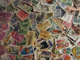 USA POSTAGE STAMP LOTS 300 ALL DIFFERENT USED STAMPS GREAT MIX FREE SHIP... - $6.92