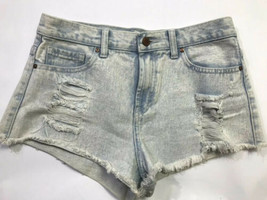 Forever 21 Distressed Denim Cutoff Women's Shorts Size 27 Light Blue - $29.69