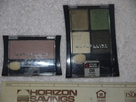 2 pc Maybelline Eyeshadow Expert Wear Earthy Taupe & Stylish Smokes Emer... - $8.01