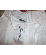 Gorgeous White Button-Front TIE Skirt Size Small NEW - $19.00