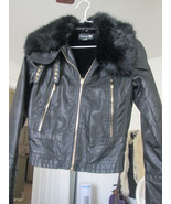 BEAUTIFUL FAUX Fur Leather Look Jacket  - Forever 21 Size NEW SMALL - $34.65