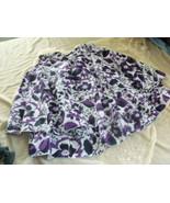 Gorgeous Purple & Black Floral Flounce Skirt - ADORABLE  - Small - $12.86
