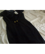 Classic BLACK Button Lined Knee length DRESS  -  Brand New XS - $14.85
