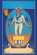 Sailor Broom Label - Art Print - $19.99+