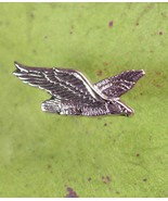 Flying Eagle Tie Tack Vintage Sculpted Silver with Chain Men's Tie Acces... - $70.00