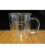 2009 Starbucks Coffee Mug Tea Cup Logo Clear Double Wall Glass From Bodum 16 oz - $14.99