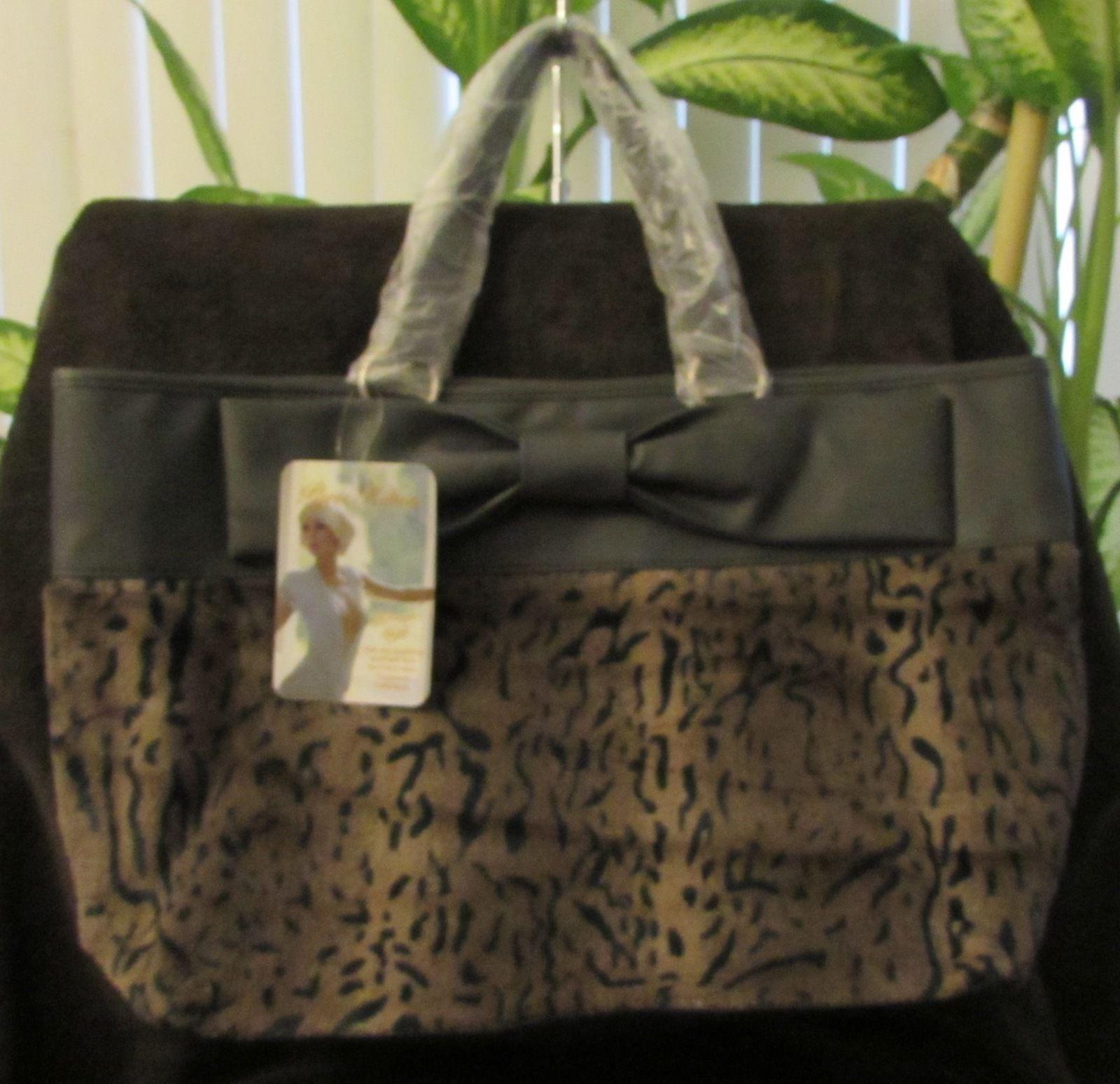 NWT Paris Hilton Tote/Shopper Hand Bag-Leopard Print