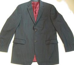 KENNETH COLE New York 42T 42L Gray w/Brown StripesPure Virgin Wool Blazer - $69.99