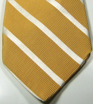 BROOKS BROTHERS Makers Peach with White Stripe Tie 100% Silk RARE - $29.99