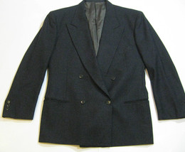 GIORGIO ARMANI 42R Rich Charcoal Gray Double Breasted Blazer Sports Coat... - $158.39