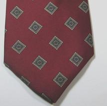 Brooks Brothers Makers Rich Red Brown Diamonds Vintage Tie Silk - $29.99