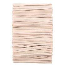 Whaline 400 Pieces Small Wax Sticks Wood Spatulas Applicator Craft Sticks for Ha image 7
