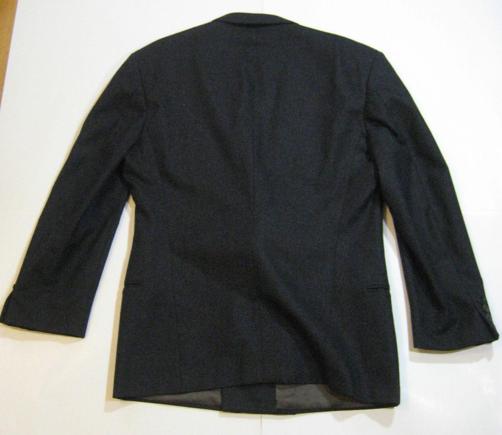 GIORGIO ARMANI 42R Rich Charcoal Gray Double Breasted Blazer Sports Coat RARE