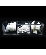 Acrylic Cosmetic Box 3 Compartment Stackable Makeup Storage Organizer #5698 - $17.95